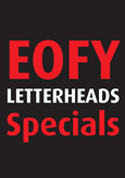 View: End of Financial Year Letterheads Specials